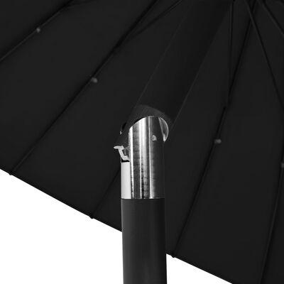 vidaXL Trädgårdsparasoll med aluminiumstång 270 cm svart