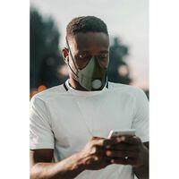 Munskydd 10 utbytbara N99 filter, hem steriliserbar grön Mask-Grön