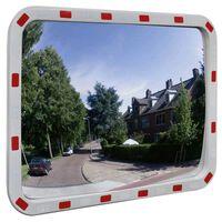 Konvex trafikspegel PC-Plast 60 x 80 cm med reflexer