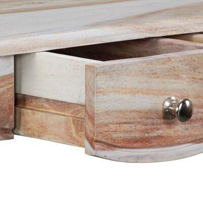 vidaXL Skänk med 3 lådor massivt sheeshamträ 110x40x76 cm
