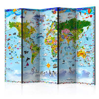 Rumsavdelare - World Map For Kids Ii   - 225x172 Cm