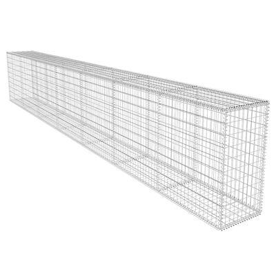 vidaXL Gabionmur med lock galvaniserat stål 600x50x100 cm