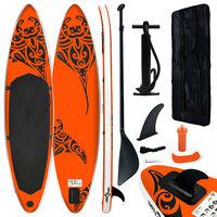 vidaXL SUP-bräda uppblåsbar 320x76x15 cm orange