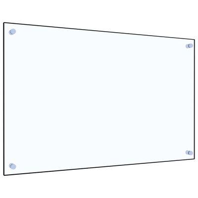 vidaXL Stänkskydd transparent 80x50 cm härdat glas