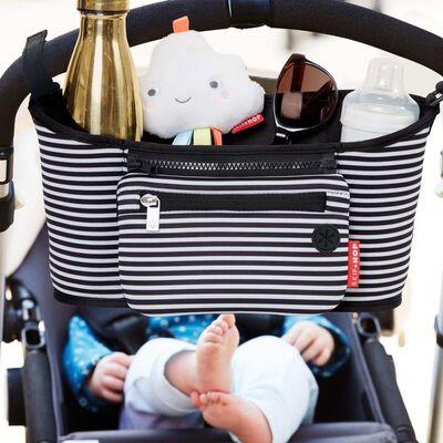 Skip Hop Förvaringsväska för barnvagn svart och vit