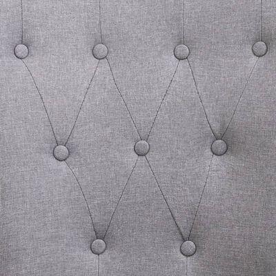 vidaXL Matstolar med armstöd 4 st ljusgrå tyg