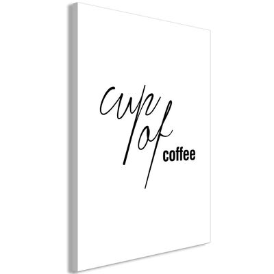 Tavla - Cup Of Coffee (1 Part) Vertical - 80x120 Cm