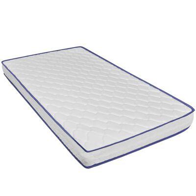 vidaXL Säng med memoryskummadrass konstläder 120x200 cm