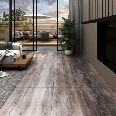 vidaXL Golvbrädor i PVC 5,26 m² 2 mm mattbrunt trä