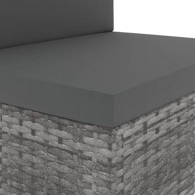 vidaXL Loungegrupp för trädgården 2 delar konstrotting grå