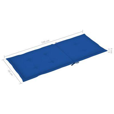 vidaXL Dynor för trädgårdsstolar 4 st kungsblå 120x50x4 cm