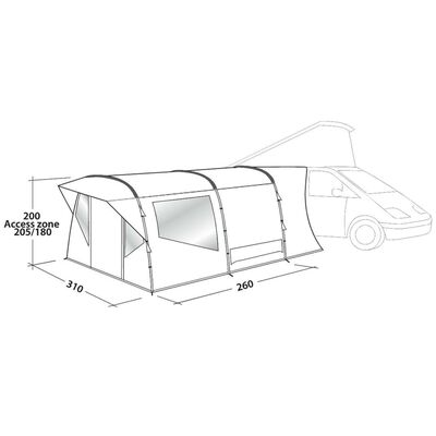 Easy Camp Tält Wimberly grå