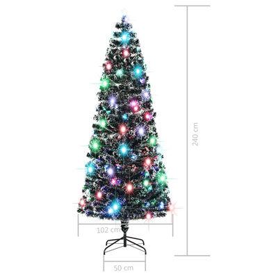 vidaXL Plastgran med fot och LED 240 cm 380 grenar