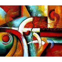 Formen och färgerna, oljemålning på duk, 50x60 cm