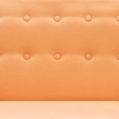 vidaXL Soffa L-formad tyg 171,5x138x81,5 cm orange
