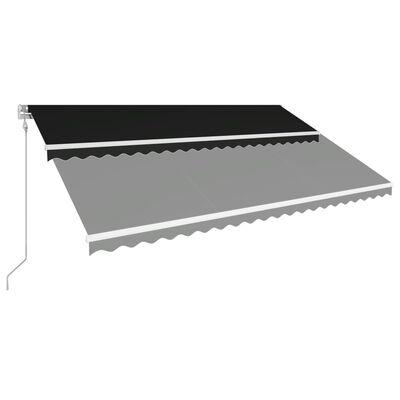 vidaXL Markis automatiskt infällbar 500x300 cm antracit