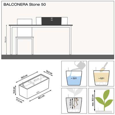 LECHUZA Odlingsenhet BALCONERA Color 50 ALL-IN-ONE svart