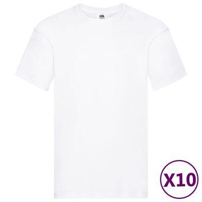 Fruit of the Loom Original T-shirt 10-pack vit stl. L bomull