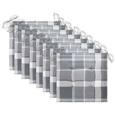 vidaXL Hopfällbara trädgårdsstolar med dynor 8 st massivt akaciaträ