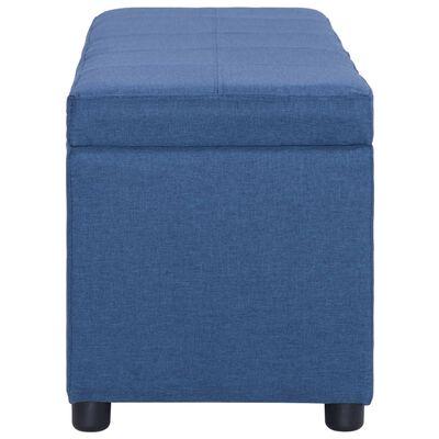vidaXL Bänk med förvaringsutrymme 116 cm blå polyester