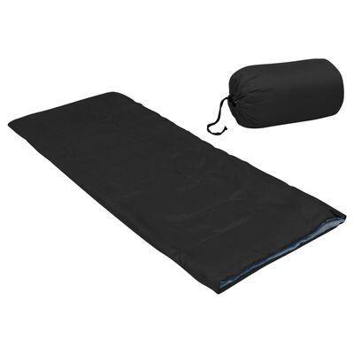 vidaXL Lätt barnsovsäck rektangulär svart 670 g 15°C