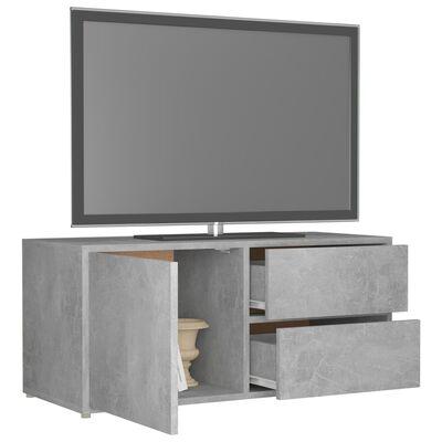 vidaXL TV-bänk betonggrå 80x34x36 cm spånskiva