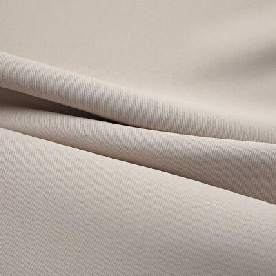 vidaXL Mörkläggningsgardiner med metallringar 2 st beige 140x175 cm