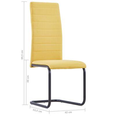 vidaXL Fribärande matstolar 4 st gul tyg