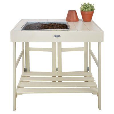 Esschert Design Planteringsbord vit