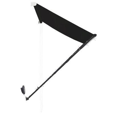 vidaXL Markis med LED 250x150 cm antracit