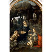 The Virgin of the Rocks,Leonardo da Vinci,60x38cm