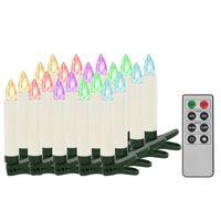 vidaXL Trådlösa LED-ljus med fjärrkontroll 20 st RGB