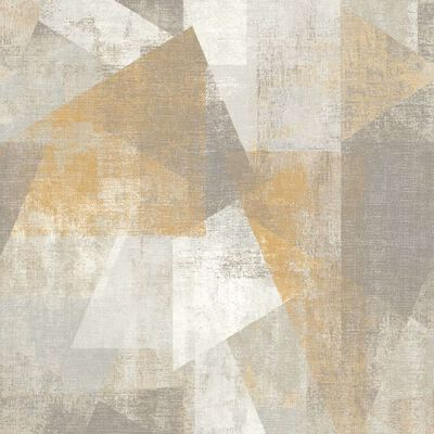 DUTCH WALLCOVERINGS Tapet perspektiv beige och grå
