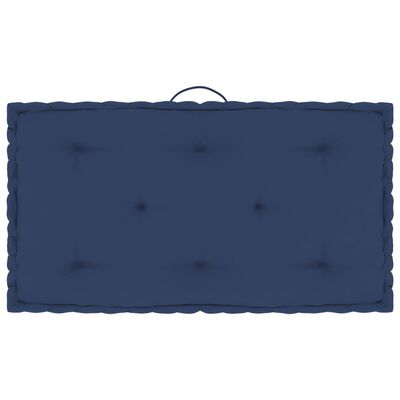 vidaXL Dynor till pallsoffa 5 st ljus marinblå bomull,