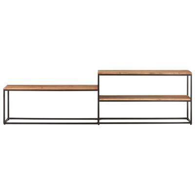 vidaXL TV-bänk 180x30x50 cm massivt akaciaträ