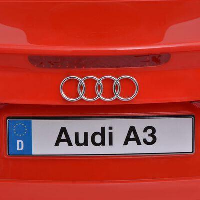 vidaXL Elektrisk åkbil med fjärrkontroll Audi A3 röd