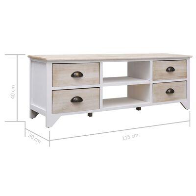 vidaXL TV-bänk naturlig 115x30x40 cm trä