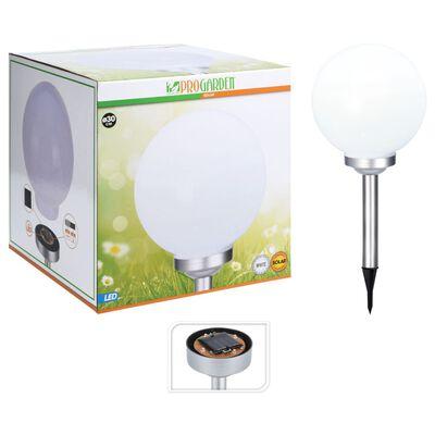 ProGarden LED sollampa Ball 30 cm vit