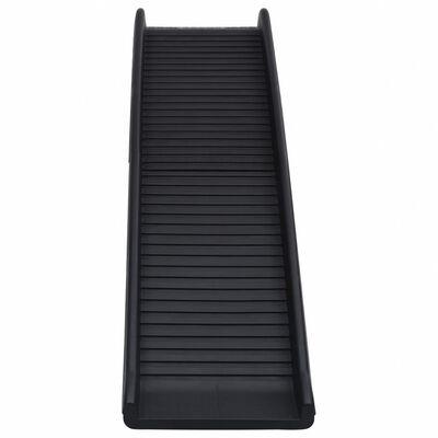 vidaXL Hopfällbar hundramp svart 155,5x40x15,5 cm