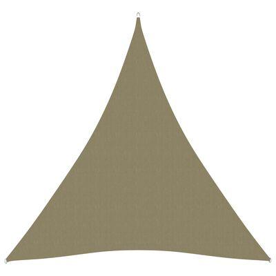 vidaXL Solsegel oxfordtyg trekantigt 3x4x4 m beige