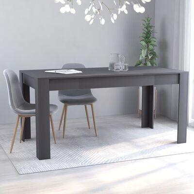 vidaXL Matbord grå 160x80x76 cm spånskiva