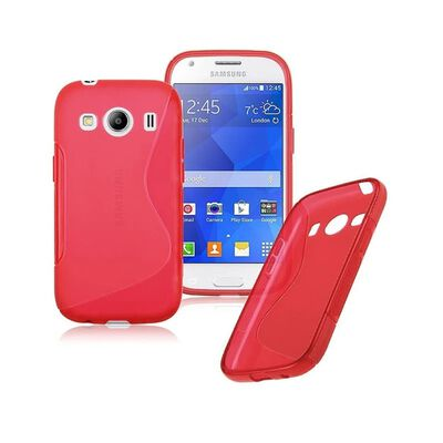S Line silikon skal Samsung Galaxy Ace 4 (SM-G357F) Röd