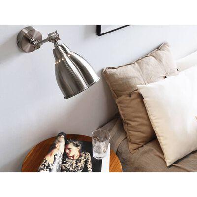 Vägglampa 2 st silver MISSISSIPPI M