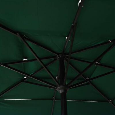 vidaXL Trädgårdsparasoll med aluminiumstång 2,5x2,5 m grön