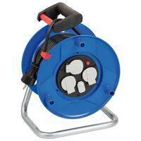 Brennenstuhl Kabelvinda med USB-laddare Garant blå 25 m