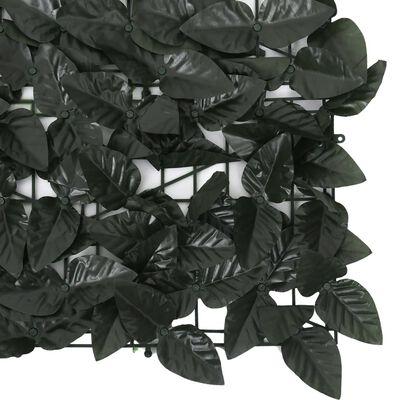 vidaXL Balkongskärm mörkgröna blad 500x100 cm