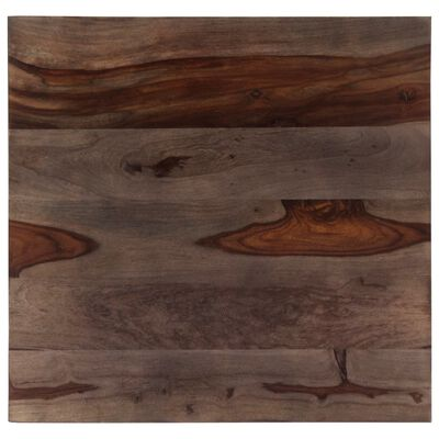 vidaXL Soffbord 60x60x35 cm massivt sheshamträ grå
