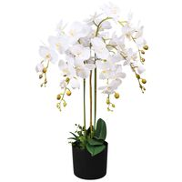 vidaXL Konstväxt Orkidé med kruka 75 cm vit
