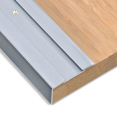 vidaXL L-formade halkskydd för trapp 15 st aluminium 134 cm silver