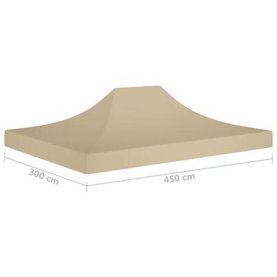 vidaXL Tak till partytält 4,5x3 m beige 270 g/m²